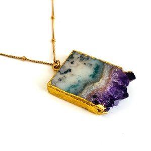 Jewelry - 🌵TEMP Price DROP🌵Gold Purple Amethyst  Necklace